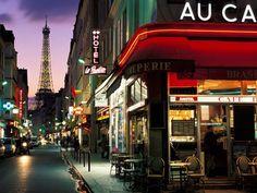 Paris Street, Paris, France.