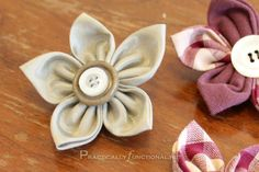 Fabric flower tutorial: Perfect for hair clips or headbands!