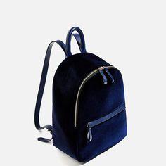 Image 1 of VELVET BACKPACK from Zara