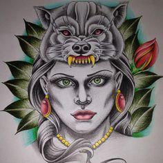 Estudo pra tattoo de amanhã 👊🏻👊🏻👊🏻 #skecth #skecthbook #art #artwork #arttattoo #artist_4_shoutout #inked #ilustração #neotraditional #tattoo #tattooer #tatuados #tattooage #tattooart #tattoogirl #tattoolife #tattoocolor #tradicional #tatoomachine #tattoobrasil #tattoomagazine #tattoooldschool #tattooneotraditional #sp #sullen #saopaulo #sptattoo