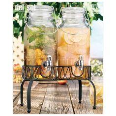 nice Home Essentials 4841 Del Sol Ice Cold Twin 3 Liter Each Jug With Rack,  #HomeEssentialsJuicers&Blenders