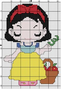 Snow White perler bead pattern