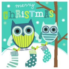 CHRISTMAS OWL Martina Hogan, Representing leading artists who produce children's and decorative work to commission or license. Christmas Owls, Christmas Wishes, Merry Christmas, Xmas, Happy Holidays Wishes, Happy Owl, Christmas Typography, Owl Art, Christmas Background
