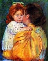 "1896 ~ ""Maternal Kiss"", Pastel & Paper by Mary Cassatt, aka Mary Stevenson Cassatt American Painter & Printmaker in the Impressionist Style . now in the Philadelphia Museum of Art . Camille Pissarro, Mary Cassatt Art, Amédéo Modigliani, Berthe Morisot, Philadelphia Museum Of Art, Philadelphia Pa, Edgar Degas, Oil Painting Reproductions, Angel Art"