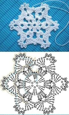 Hottest Absolutely Free Crochet Flowers diagram Concepts If you locate precisely how to crochet a new floral, then you can certainly produce many projects. Diy Tricot Crochet, Crochet Home, Irish Crochet, Crochet Motif, Crochet Doilies, Crochet Flowers, Crochet Stitches, Crochet Snowflake Pattern, Crochet Stars