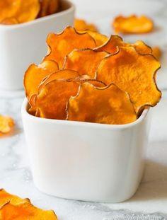 Baked Sweet Potato Chips Recipe | ASpicyPerspective.com