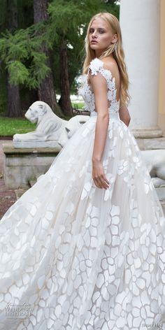 nurit hen 2017 bridal cap sleeves deep v neck full embellishment romantic a  line ball gown wedding dress open v back sweep train (1) zbv -- Nurit Hen Ivory and White 2017 Wedding Dresses