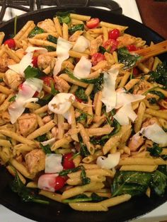 Spinach chicken penne