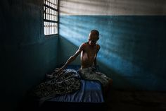 Omar Mendoza, a Venezuelan being treated for schizophrenia, was undernourished and had lost half his weight. He and patients at El Pampero Psychiatric Hospital in Barquisimeto, Venezuela, about 170 miles west of Caracas, are suffering as the country's economic crisis has decimated its public health system. Meridith Kohut for The New York Times