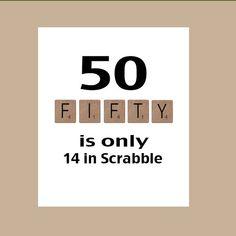 50. Geburtstag Karte Meilenstein-Geburtstag von DaizyBlueDesigns