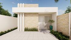 Duplex House Design, House Front Design, Small House Design, Modern House Design, Modern House Facades, Modern Bungalow House, Bungalow House Plans, Home Building Design, Building A House