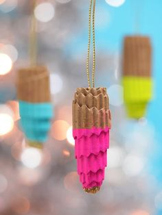 Recycled Cardboard Coffee Cup Sleeve Ornaments