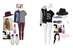 """Kian and Jc Girls"" by lifeasgege ❤ liked on Polyvore featuring Topshop, Monki, maurices, Miss Selfridge, Converse, Smashbox, Lime Crime and rag & bone"