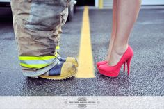 this pic except with his construction boots instead engagement pictures #engagement pictures #unique engagement pictures #picture ideas