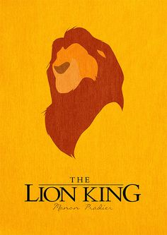 Vintage / Retro Sign Old Style wall decor Reproduction Print Poster Nr 42. The Lion King Poster