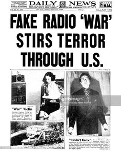War of the Worlds, Orson Welles, Mercury Theater on the Air,