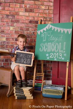 copyright 2013 Pixels On Paper, Inc. first day of school pictures. Shut up!