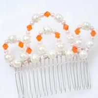 This pearl wedding hair comb is made for bridesmaid; hope you like this crown Wedding Hair Comb.