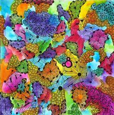 opus #2, opus tiles from zentangle, Alice Hendon, The Creator's Leaf, www.thecreatorsleaf.com