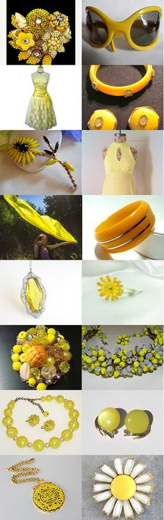 Two Roads Diverged In A Yellow Wood, A TeamLove Treasury by dianadivine on Etsy // #vintagefinds #vintagefashion #vintage #yellow #orange