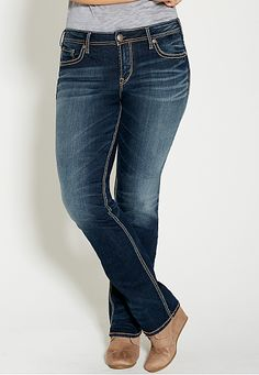 silver jeans co. ® plus size aiko super stretch jeans - #maurices