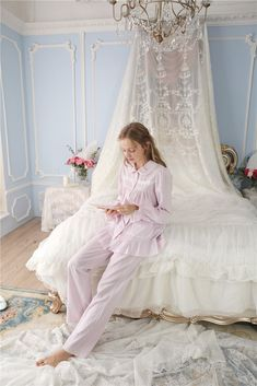 Simple Story Quality 100% Cotton Royal Style Night Suit Long Sleeves W – Prinsty
