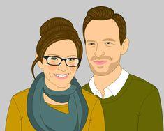 Custom Portrait Gift for couples Custom portrait #weddings @EtsyMktgTool http://etsy.me/2y9USDc #customportrait #customportraits