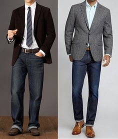 The right & wrong way to wear sports coat with jeans - avoid the business…