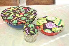 Items similar to Bowl Cover Set - Veggie Themed on Etsy Dream Garden, Saving Tips, Alice In Wonderland, Bowls, Pottery, Etsy Shop, Cover, Creative, Handmade