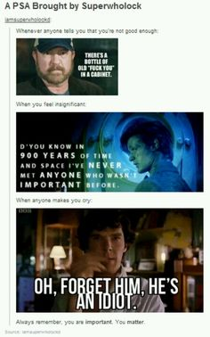 Thank you, SuperWhoLock. <3 just part of the reason we Love these shows