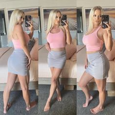 """Zoe-Lee Wood ✨ on Instagram: """"🎀 Been trying to keep muscle on throughout covid19 and growing a baby, legs are keeping me proud 😌. Still eating @staunch.nation protein…"""" Zoe Lee, Leather Skirt, Protein, Muscle, Legs, Wood, Skirts, Baby, Instagram"""