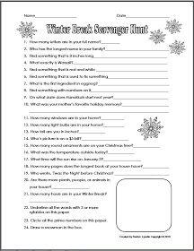 Classroom Freebies: Christmas Break Scavenger Hunt