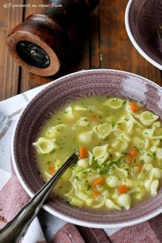 Experimente aus meiner Küche: Gemüse-Nudel-Suppe