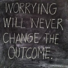 Worrying is using your imagination to create things you don't want. {found on tweets.kellytirman.com}