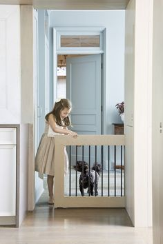 This House Is Full Of Secret Storage Spaces 5 Smart Storage Features You Need To Know About - Best Smart Storage Pet Gate, Dog Gates, Puppy Gates, Baby Gates, Retractable Gate, Secret Storage, Hidden Storage, Animal Room, Dog Rooms