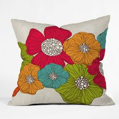 Valentina Ramos Flowers Outdoor Throw Pillow | DENY Designs Home Accessories