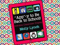 """Get """"App-y"""" for Back to School with this fun display! Editable Back to School Display!"""