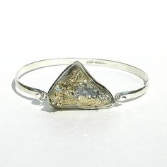 NEW Pyrite Druzy Bangle / Sterling Silver / Gold / by shopshrew