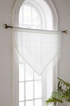Shop Burnout Velvet Fringe Window Valance at Urban Outfitters today. We carry all the latest styles, colors and brands for you to choose from right here. Boho Curtains, Curtains For Sale, Fringe Curtains, Bedroom Curtains, Valences For Windows, Kimono, Canopy Tent, Bedroom Layouts, Curtain Designs