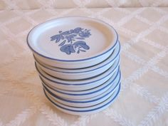 Pfaltzgraff Coasters Yorktowne Pattern Blue and White Lot 2 of 2, $19.99