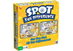 Spot the Difference and thousands more of the very best toys at Fat Brain Toys. This fast paced exciting game reinforces visual tracking and memory. A chef in the kitchen, a boy with his dog, car driving down the street. Educational Board Games, Learning Games, Spot The Difference Games, Vision Therapy, Therapy Activities, Therapy Games, Dementia Activities, Therapy Ideas, Speech Therapy