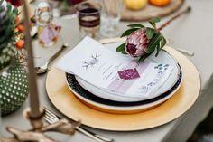 Hochzeitsinspiration: Der Vintage-Herbst voller Liebe Fotografie: Verena Anne Ahrens Exotic Wedding, Boho Wedding, Wedding Table, Flower Decorations, Wedding Decorations, Table Decorations, Protea Wedding, Protea Flower, Boho Vintage