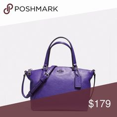 """Coach Satchel Pebble Leather Coach Satchel Pebble Leather, zip top closure, handles with 41/4 drop, strap with 23"""" drop for shoulder or cross body wear 81/4""""L X 63/4""""H X 3""""W Coach Bags"""