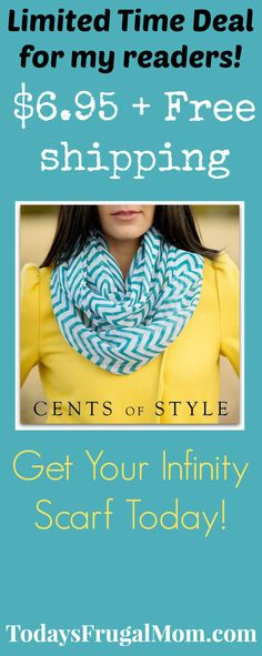 Cents of Style's BEST SELLING Chevron Infinity Scarf- $6.95 & FREE SHIPPING for my dear readers! :: Today's Frugal Mom™
