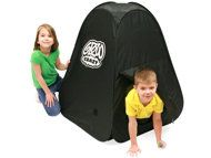 Drawing Room    Techno Source's Glow Crazy Doodle Dome ($20; ages 3+; amazon.com) gives little Picassos magical privacy as they sketch on the tent's walls using a green light wand. When the mess-free art fades, it's time to start all over again.
