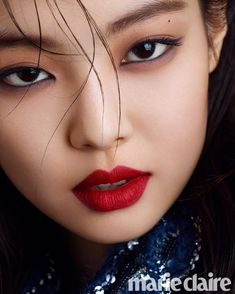 Jennie For Marie Claire Korea October 2018 Issue Blackpink Jennie, Close Up, Blackpink Fashion, Korean Fashion, Blackpink Jisoo, Sweet Girls, Red Lips, Marie Claire, Korean Girl Groups