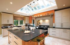Pendant lighting from roof lantern, example. It can be done!