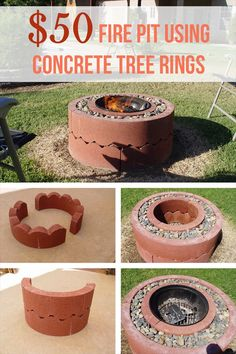 12 Easy and Cheap DIY Outdoor Fire Pit Ideas - The Handy Mano Give your garden something special for summer with a DIY fire pit. These outdoor fire pit ideas include designs for any size of garden, so get DIY-ing! Fire Pit Uses, Easy Fire Pit, Cool Fire Pits, Cheap Fire Pit Diy, Cheap Diy Firepit, Diy Firepit Ideas, Cheap Pergola, Pergola Kits, Pergola Ideas