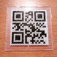 QR code perler beads by ebdim