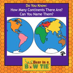 Geography trivia Bear in a Bow Tie Fun Facts For Kids, Children's Picture Books, Amazing Adventures, Theme Song, Book Illustration, Continents, Trivia, Geography, Adventure Travel